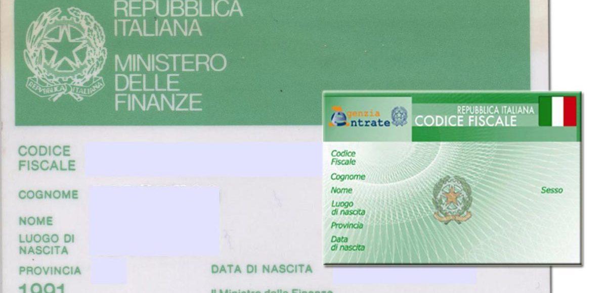 codice fiscale в Италии